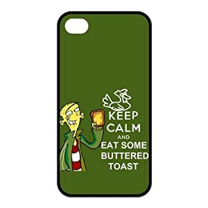 Fashion Keep Calm And Eat Nutella Personalized iPhone 4,4S Rubber Silicone Case Cover