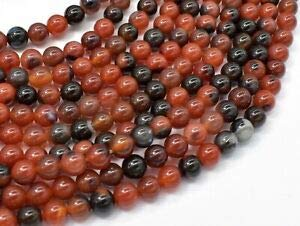 (Sardonyx Agate Beads, 6mm (6.3mm) (122054287) Crafting Key Chain Bracelet Necklace Jewelry Accessories Pendants)