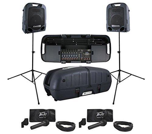 Peavey Escort 5000 Foldable PA System Powered Speakers + PVi2XLR Mic