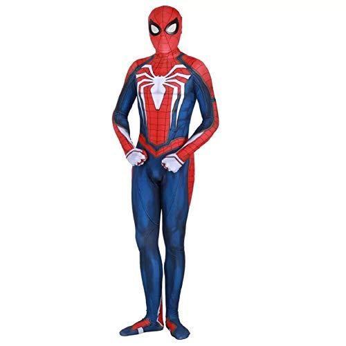 Superhero Jumpsuit Mens Lycra Spandex Zentai Halloween Cosplay 3D Bodysuit S Bluered]()
