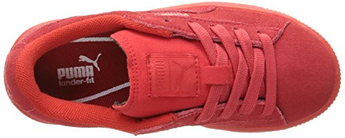 Kids' Puma White Suede Red Sneaker Jr High Risk dF71qFTw