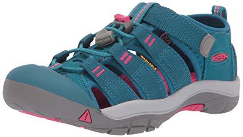 (KEEN Unisex Newport H2 Water Shoe, deep Lagoon/Bright Pink, 5 M US Big Kid )