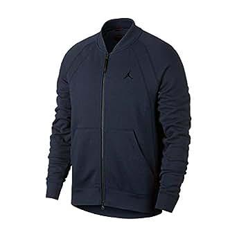 Jordan Chaqueta Bomber Wings Fleece (Azul Marino), S: Amazon ...