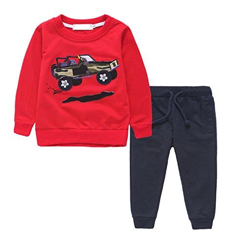 [Boys Clothing Sets 2 Pieces Cotton Long Sleeve T-shirt & Pants(2T-7T)] (Ninja Suits For Sale)