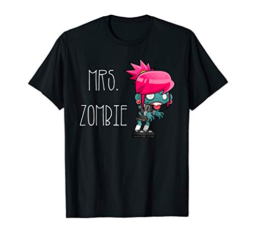 Mrs. Zombie. Halloween t-shirt for couples. Mr and Mrs shirt -