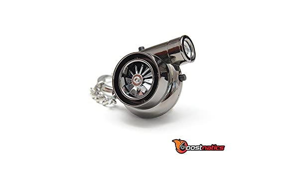 boostnatics encendedor eléctrico Turbo Llavero con sonidos - versión 2 - negro: Amazon.es: Coche y moto