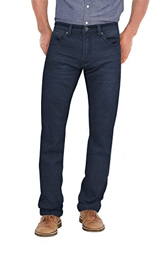 Mens Super Comfy Straight Stretch Denim Jean AKP44104SL Blue Black 34X34