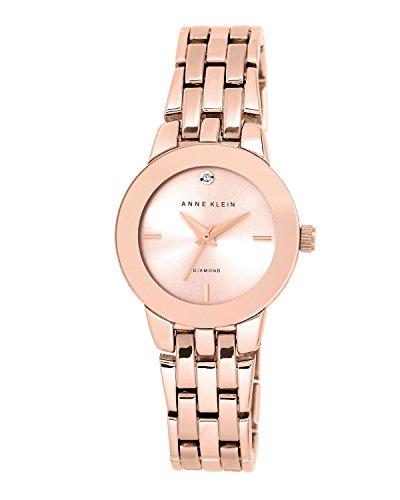 Anne Klein AK/n1930rgrg para mujer reloj infantil de cuarzo con de oro rosa y cristales esfera analógica y correa de acero inoxidable de AK de oro rosa y cristales/n1930rgrg