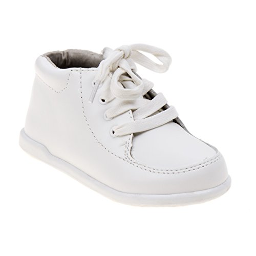 White Leather Pram Shoes - 5