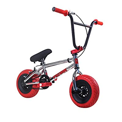 Fatboy Mini BMX Bicycle Freestyle Bike Fat Tires, Chrome, Red Assault Pro Exclusive Color