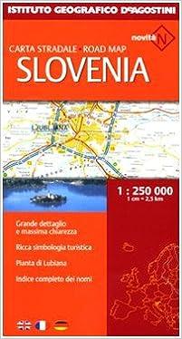 Cartina Turistica Slovenia.Slovenia Carta Stradale Road Map 1 250 000 Instituto Geografico De Agostini 9788851113889 Amazon Com Books