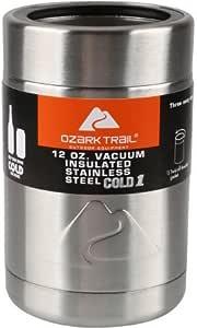 environ 340.19 g Ozark Trail peut Cooler 12 oz Lot de 4 voir desc isolation sous vide en acier inoxydable