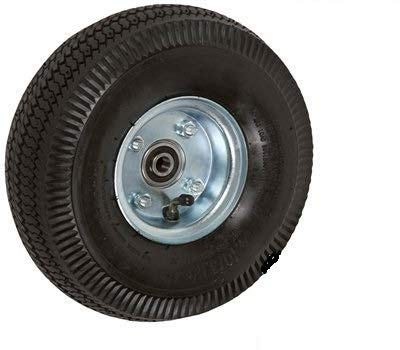 CasterHQ 10'' X 3-1/2'' - 2-1/4'' HUB Length - Offset HUB - Pneumatic Wheel (AIR Filled) - 350 LB Cap - 5/8'' bore Size - Commercial/Industrial Application Equipment - Caster