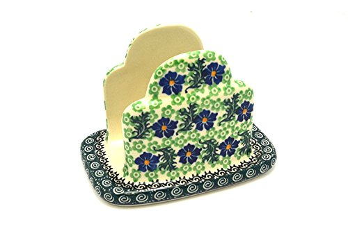 Polish Pottery Napkin Holder - Sweet Violet