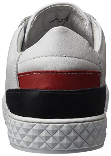 Cycleur de luxe Herren Bratislava Sneaker Weiß (Optic White/Red/Navy)