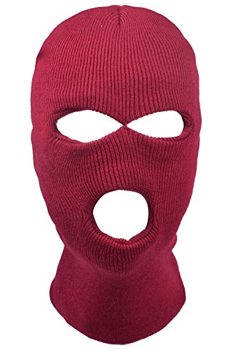 Skiing Winter Warm Stocking Cap Knit Face Mask - 4