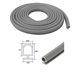 Gray Bulb Type Weatherstrip 3 16 Quot Width 3 16 Quot Backing