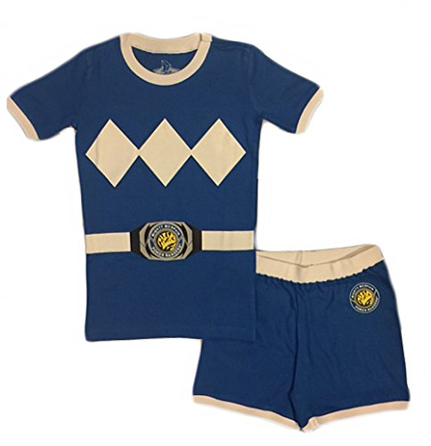 Power Rangers Little & Big Boys Character Cotton Pajamas (6, Blue) (Power Rangers Kids Pajamas)