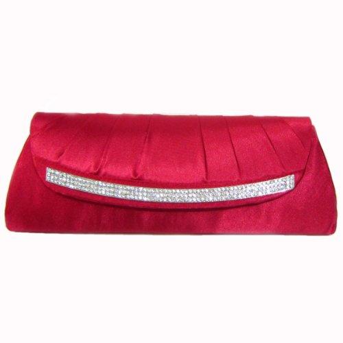 Crystal SatinClutch Rot