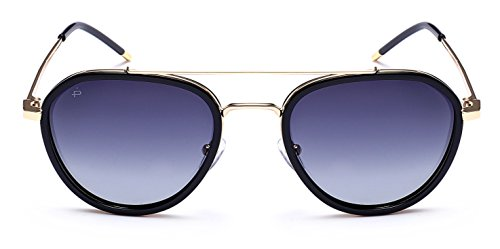 "PRIVE REVAUX ""The Connoisseur"" Handcrafted Designer Polarized Aviator Sunglasses (Black)"
