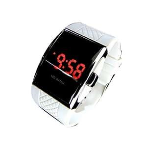 Vktech - Reloj de Pulsera Led Digital para Hombre y Mujer (Blanco)
