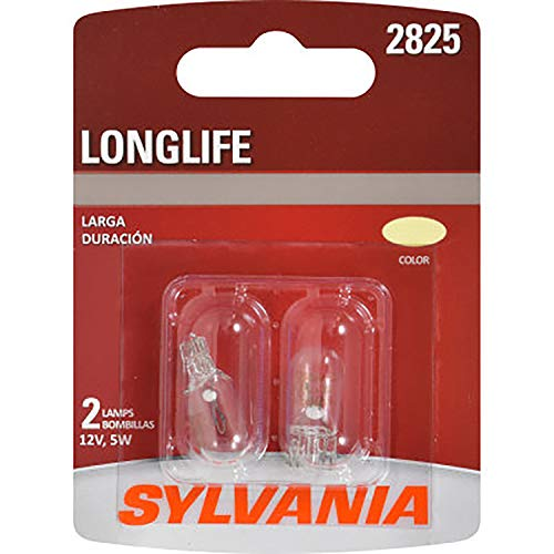 SYLVANIA 2825 Long Life Miniature Bulb, (Contains 2 Bulbs)