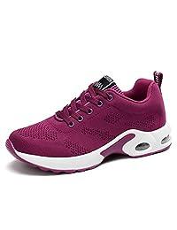 JIASUQI Womens Walking Shoes Fashion Mesh Air Cushion Sneakers Breathable Athletic Sports Shoes