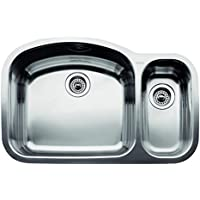 BLANCO 440246 WAVE Double Bowl Undermount Kitchen Sink, Stainless Steel