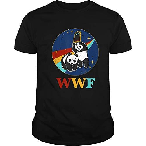 (WWF Panda Bears Vintage Retro T-Shirt WWE Wrestling - Funny Tshirt (Unisex T-Shirt;Black;L))