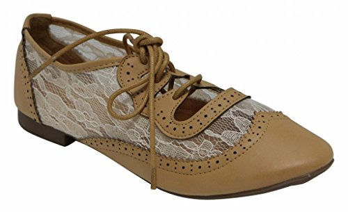 cut 6 spring paisley fashion 5 5 athletic lace perforated oxfords ANNA out women's hollow Rosy Camel up gzCxqUpTw