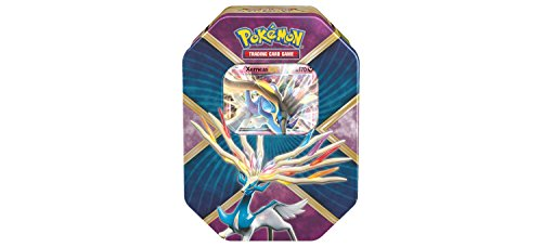 Pokemon TCG: Xerneas EX Pokemon Tin - Legends of Kalos Tin Contains 4 Pokemon Booster Packs and Ultra Rare Xerneas EX by Pokémon