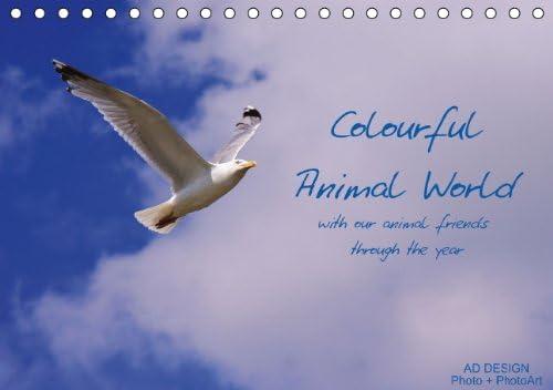 Colorido mundo Animal (Reino Unido versión) (Table Calendar 2014DIN A5horizontal)–Autor: Dölling Angela VE diseño fotos + Photoart ad