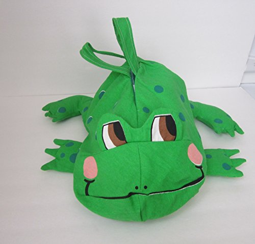(Whimsical Green Frog Baggy Animal Tote Bag - Great for Boys, Girls & Adults!!)