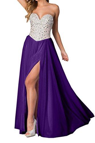 Bride Floor Prom Evening with Regency length Chiffon Beaded Sweetheart Angel Dress Split d4xaqZd