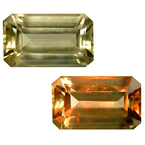 Deluxe Gems 2.79 ct Octagon Cut (10 x 6 mm) Unheated/Untreated Turkish Color Change Diaspore Natural Loose Gemstone