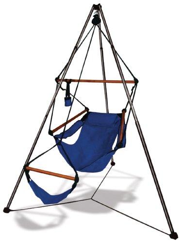 Tripod Stand Hammock Chair Combo Color: Jet Black, Dowels: - Tripod Hammock Stand