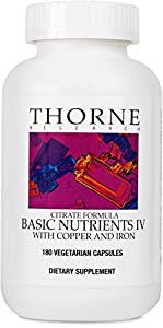 Thorne Research - Basic Nutrients IV (with Copper & Iron) - 180ct