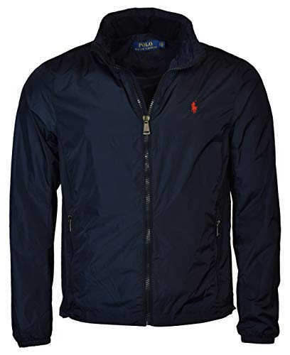 Polo Ralph Lauren Men's Nylon Hooded Windbreaker Jacket - XXL - Navy ()