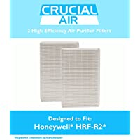 2 Replacements for Honeywell HRF-R2 Air Purifier Filters Fit HPA-090, HPA-100, HPA200 & HPA300 Series, by Think Crucial