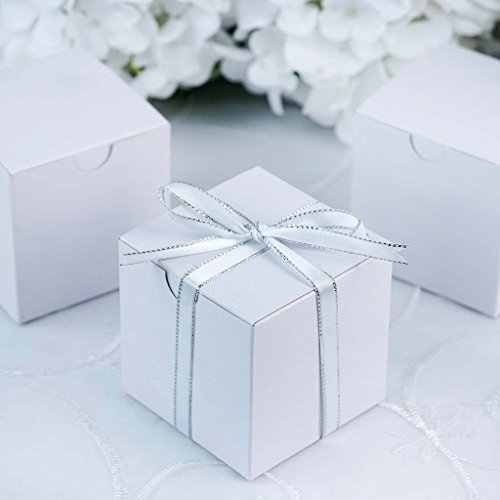 Efavormart 100 pcs of 3x3x3 White Favor Box for Candy Treat Gift Wrap Box Party Favor Boxes for Bridal Shower Wedding Party