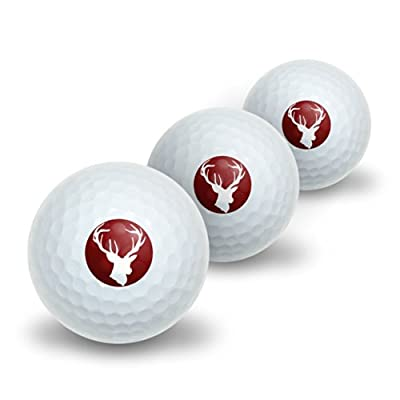 Deer Hunter - Buck Hunting Novelty Golf Balls 3 Pack