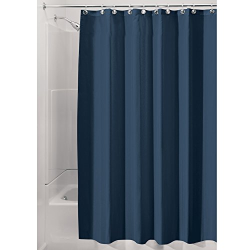 InterDesign Water-Repellent and Mildew-Resistant Fabric Shower Curtain, 72