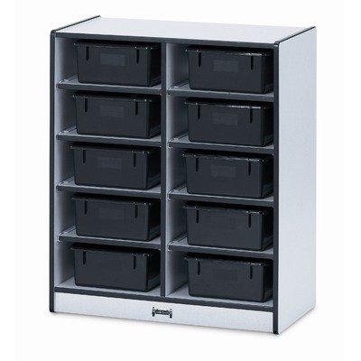 Jonti-Craft Rainbow Accents 10 Tub Single Storage Shelf Without Tubs Blue (Accents Rainbow Single)