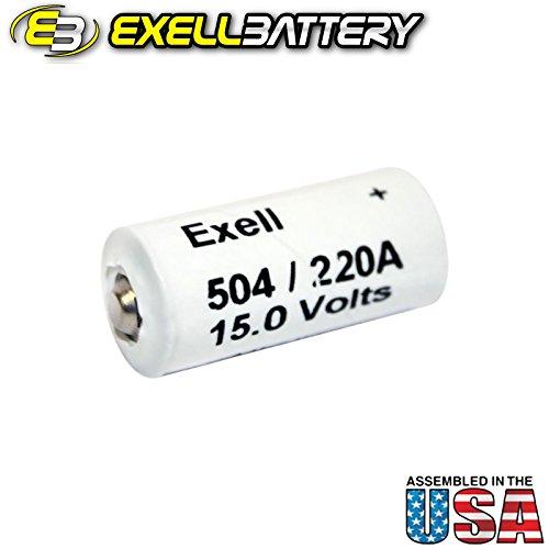 Exell Battery A220/504A 15-Volt Alkaline Battery (1 Pack)