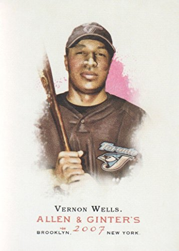 Toronto Blue Jays Vernon Wells - 2007 Topps Allen and Ginter Baseball #329 Vernon Wells Toronto Blue Jays