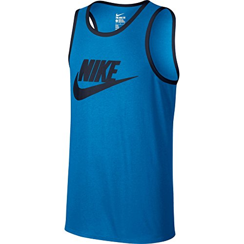 Nike Heren Ace Logo Tanktop Lite Foto Blauw / Obsidiaan