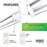 Sunco Lighting 4 Pack LED Utility Shop Light, 4