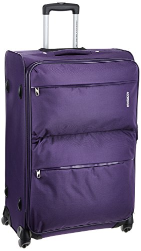 American Tourister A.T. Velocity Sp Polyester 77 cms Purple Softsided Suitcase (90X...