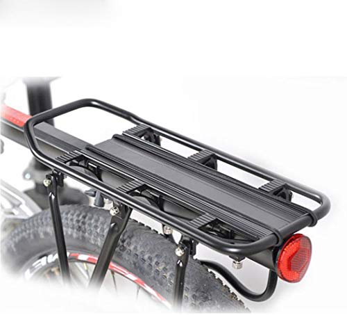 Hycy Aleación De Aluminio Universal 90 Kg De Capacidad De Carga Máxima Bicicleta De La Bici Asiento De Equipaje Trasero...