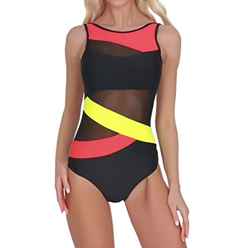 (SUNyongsh Women's Swimwear Spell Color Swimsuits Push-up Bikini Bra Bathing-Suits Sexy Beachwear Summer Swimmer)